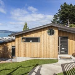 Tight knot cedar cladding