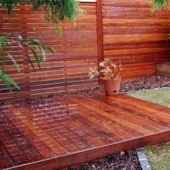 Kwila decking patio