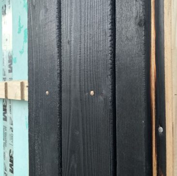 Siberian Larch weatherboard fixing detail