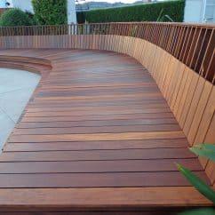 Ipe decking seating