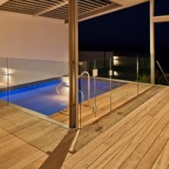 Purpleheart decking by Pool
