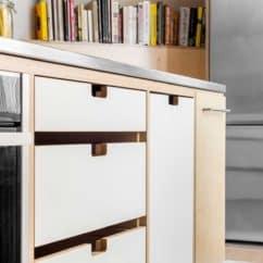 White laminate ply drawers