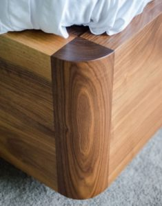 American Black Walnut Bed corner