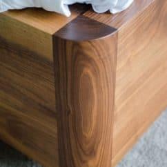 American Black Walnut Bed corner