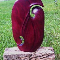 Purpleheart Sculpture